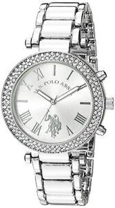 Accutime Watch Corp. U.S. Polo Assn. Womens Quartz Silver-Toned Dress