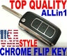 CHROME FLIP REMOTE FOR HONDA A269ZUA101 OEM ALARM CHIP KEY FOB BEPPER CLICKER