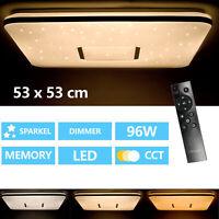 Deckenleuchte Wohnzimmer LED mit Fernbedienung 96W Deckenlampe Dimmbar CCT