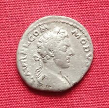 Ancient Roman Commodus Silver Denarius