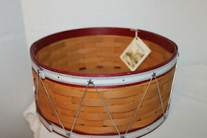 LONGABERGER LARGE DRUM HOLIDAY HOST BASKET, TAG, SECOND QUALITY, 2012, 13 INCH