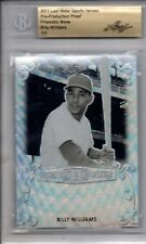 2017 Leaf Metal Sports Heroes Pre-Production Proof 1/1 BILLY WILLIAMS Wave BGS