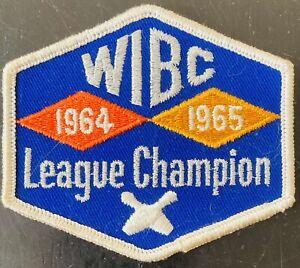 1965 WIBC WOMAN'S INTERNATIONAL BOWLING CONGRESS, LEAGUE CHAMPION SHIRT PATCH