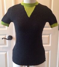 MARNI  Winter Edition 2012 Short Sleeved Sweater Wool Cashmere Sz 40 EUC