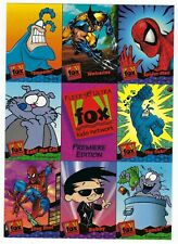 1995 FOX KIDS NETWORK Fleer Ultra Cards Over Size PROMO Card Sheet.