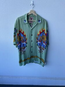 Mambo Loud Vintage Mans Ruin Button Up Shirt Size M RARE