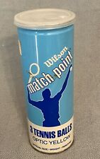 Vintage Wilson Match Point 3 Optic Yellow Tennis Balls Sealed 1970s