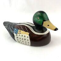 "Vintage Ceramic Mallard Duck Decoy Figurine Decorative Pottery Porcelain 8.5"""