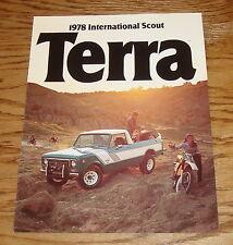 Original 1978 International Harvester Scout Terra Sales Brochure 78