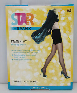 Star Power by Spanx Shaping Sheers Nylons Stand-Out Co Shaper Brown Size E