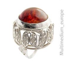 Modernist Bernstein Silber Ring filigran silver ring amber filigree 🌺🌺🌺🌺🌺