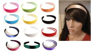 Wide Satin Headband Hair Band Alice Band Width 2.5 cms Padded and Gingham OPTION
