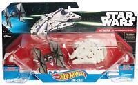 Hot Wheels Star Wars TIE Millennium Falcon Star Ship Plane Mattel Ages 4+ Toy