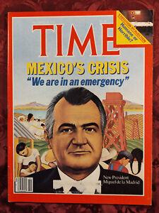 TIME December 20 1982 Dec 12/20/82 MEXICO PETER MARTINS TOOTSIE