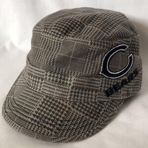 NFL TEAM Apparel Chicago Bears Gray Cotton Plaid Women's Cap Hat NWOT