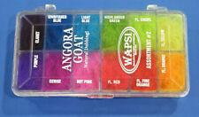 Wapsi Dispenser ANGORA GOAT Assortment2 Dubbing 12 Farben Box Natural Dubbing #2