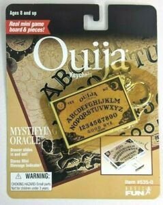 New! OUIJA KEYCHAIN 1998 Functional W/Planchette VTG 90's Basic Fun Key Ring