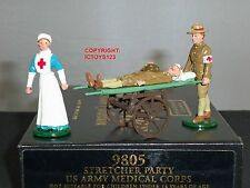 CHARLES BIGGS PREMIER 9805 US ARMY MEDICAL CORPS STRETCHER PARTY TOY SOLDIER SET