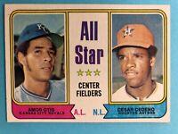1974 TOPPS BASEBALL CARD 337 ALL STAR CENTER FIELDERS OTIS & CEDENO