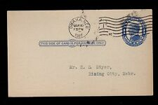 Omaha Bedding Co Columbian Brand Mattresses Nebraska 1911 Postal Card 3m