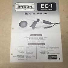 Superscope Marantz Service Manual for the EC-1 Microphone ~ Repair