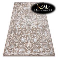 ORIGINAL Designer Rug 'RETRO' CHEAP Vintage carpets HE184 Flowers beige white