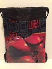 Disney BIG HERO 6 BLACK SLING BACKPACK / BAG SACK / BOOK BAG