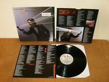 CHRIS DE BURGH : MAN ON THE LINE - HOLLAND LP 1984 with inner & insert - A&M