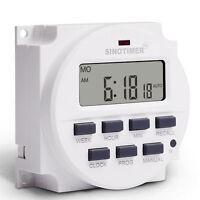 SINOTIMER Digital 220V/110V/24V/12V 16A Microcomputer Programmable Timer Switch