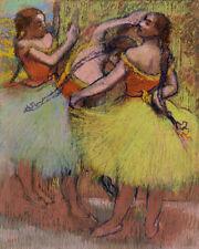 Three Dancers with Hair in Braids by Edgar Degas 60cm x 48cm Art Paper Print
