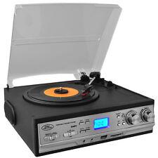 CLASSIC PYLE 3-SPEED 33/45/78 LP RECORD PLAYER TURNTABLE CASSETTE DECK AM/FM USB
