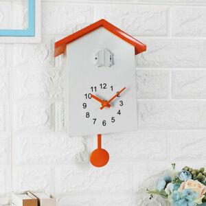 Cuckoo Clock Wall Clock- Movement Chalet-Style Minimalist Modern Design UK