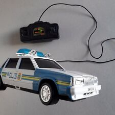 VOLVO 760 POLICE CAR Remote Control toy car Sweden 1985 cop roof lights rare