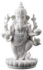 White Ganesh Elephant God Success Fortune Standing Statue Unique Home Decor!