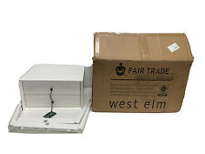 "West Elm Mid-Century Nightstand White Lacquer NEW/ Open box 17.5""w x 15""d x 24""h"