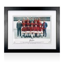 Framed Martin Dobson Signed Burnley Photo - 1972/73 Division 2 Champions