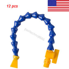 12PCS Lathe CNC Machine Adjustable Flexible Plastic Water Oil Coolant Pipe Hose