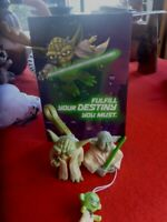 Star Wars LITTLE YODA COLLECTABLES CLIP TOY 7CM TALL, CARD FINGER PUPPET ETC