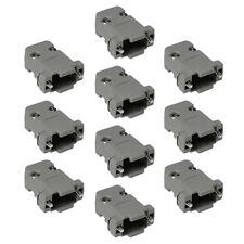 10x 9 Pin DB9 D-SUB Plastic Housing for RS232 Serial Port Solder Cup Connector