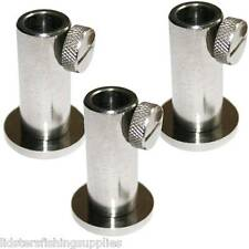 3 x New Stainless Steel Stage Stands for Platform Carp Fishing For Bank Sticks