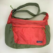 Patagonia Messenger Bag Nylon Ripstop Red Packable Lightweight Travel
