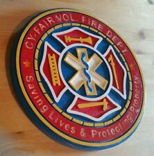 Fire Department CY - Fair Volunteer3D  routed patch plaque sign Custom