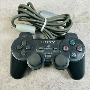 Sony Playstation 1 PS1 Wired Controller Diamond Black Working