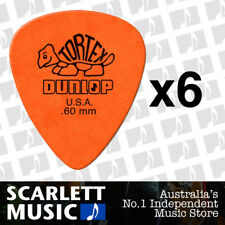 6 x Jim Dunlop Tortex Standard .60mm Orange Picks Plectrums .60 *SIX PICKS*