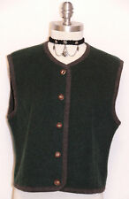GREEN ~ WOOL Women German Winter Hunting Riding Hiking WARM Jacket VEST / 6 8 S