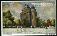 Ancient Hallepoort Gate Brussels Belgium 60+ Y/O Trade Ad  Card