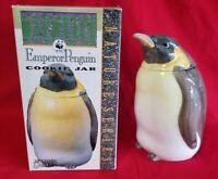 "World Wildlife Porcelain Penguin Cookie Jar Storage 11"" Benjamin Medwin Nature"