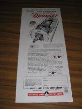 1951 Print Ad Great Lakes Steel Quonset Farm Buildings Detroit,MI