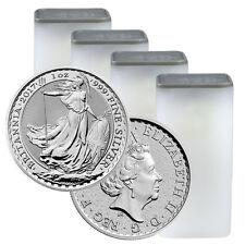 2017 Great Britain 2 Pound 1 oz Silver Britannia Lot of 100 (4 Rolls) SKU43882