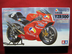 Yamaha YZR500 Antena 3 D'Antin Team 1/12 Tamiya Model Kit Motorbike Norick Abe